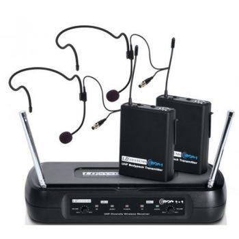 LD SYSTEMS ECO 2x2 BPH2 Microfono Inalambrico Doble de Diadema