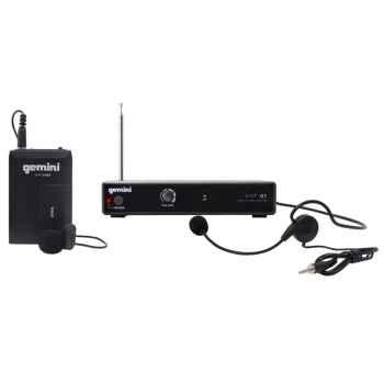 GEMINI VHF-01 HL Canal 4 Micrófono inalámbrico Diadema / Solapa