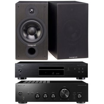 Pioneer A-10AE-K + PD-10AE-K + Cambridge SX60 BK