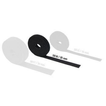 Adam Hall Hardware 5816 Cinta Velcro doble Cara 20 mm de ancho