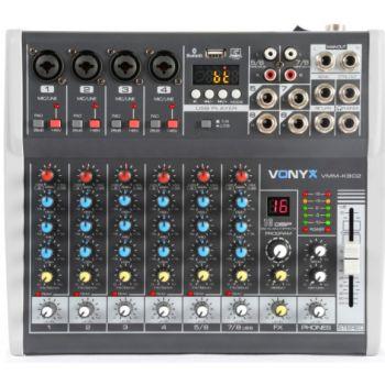 VONYX VMM-K802 Mezclador de directo 8 canales con DSP 172590