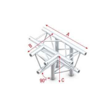 Showtec T-Cross - down 4-way Cruce Triangular 4 Direcciones para Truss FT30020