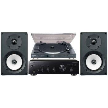 Pioneer A10 K+PL990+Onkyo D055 Conjunto audio