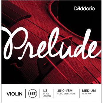 D´addario J810 Prelude 1/8 M Cuerdas para violín, tensión media