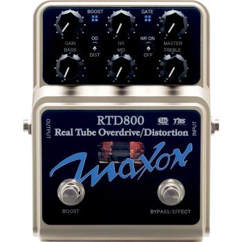 Maxon RTD800 Real Tube Overdrive Pedal Efectos Guitarra