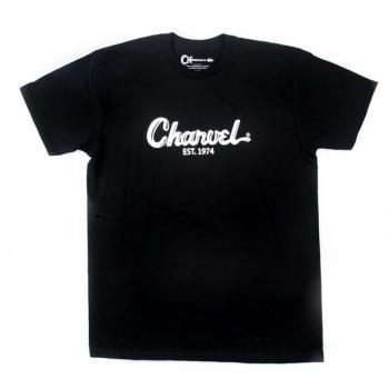Charvel T-Shirt Logo para Hombre Black Talla L