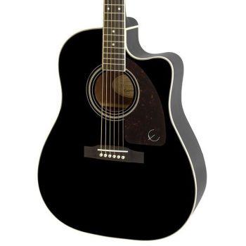 Epiphone AJ-220SCE Ebony Guitarra Electroacústica
