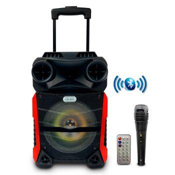 Lige Q81F Altavoz Party 8 LED HiFi Bluetooth Karaoke Trolley 8