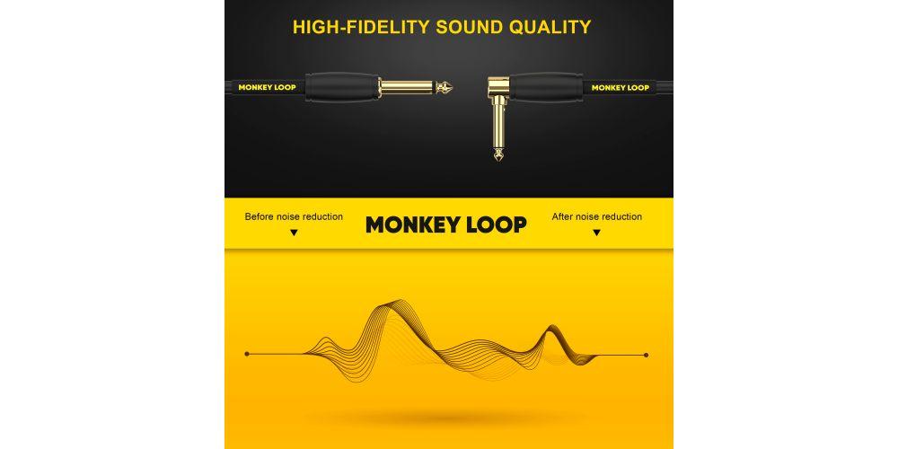monkey loop pro studio silent cable jack mono jack acodado noise reduction