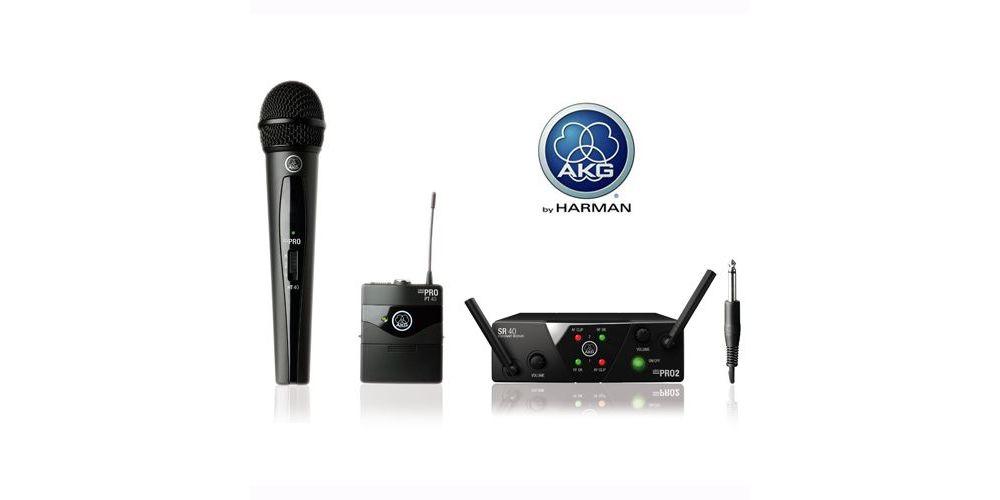 AKG WMS-40 MINI DUAL VOCAL INSTRUMENTAL SET Inalambrico Micro-Petaca