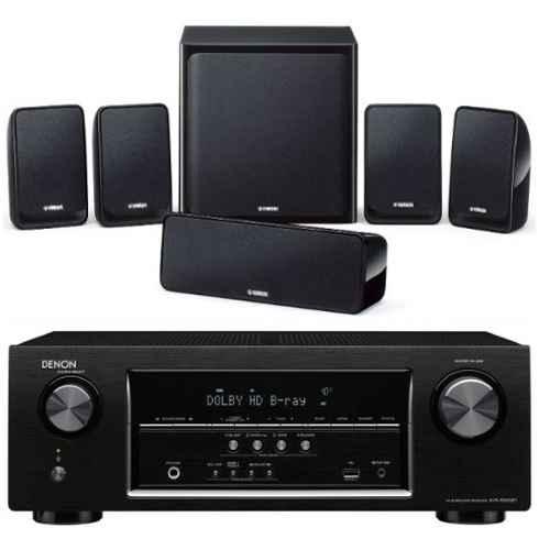 DENON AVR-X520-NSP20 Conjunto Home Cinema