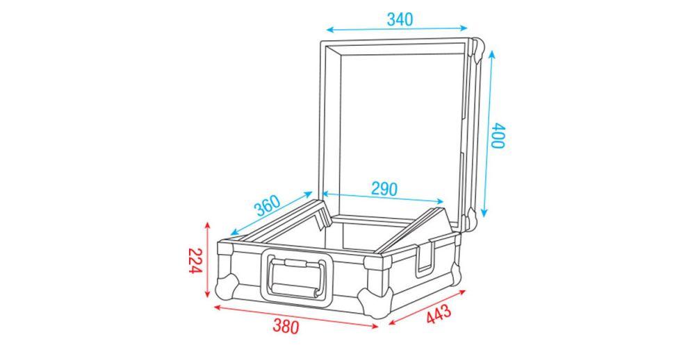 dap audio 12 mixer case picture