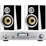 ROTEL RA12 Silver Amplificador Plateado+B&W CM1S2 Negro