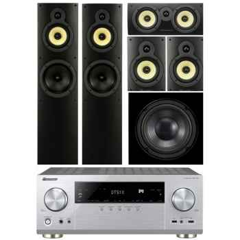 Pioneer VSX-1131-SI+Wharfedale Crystal 4 Systems+WHD8