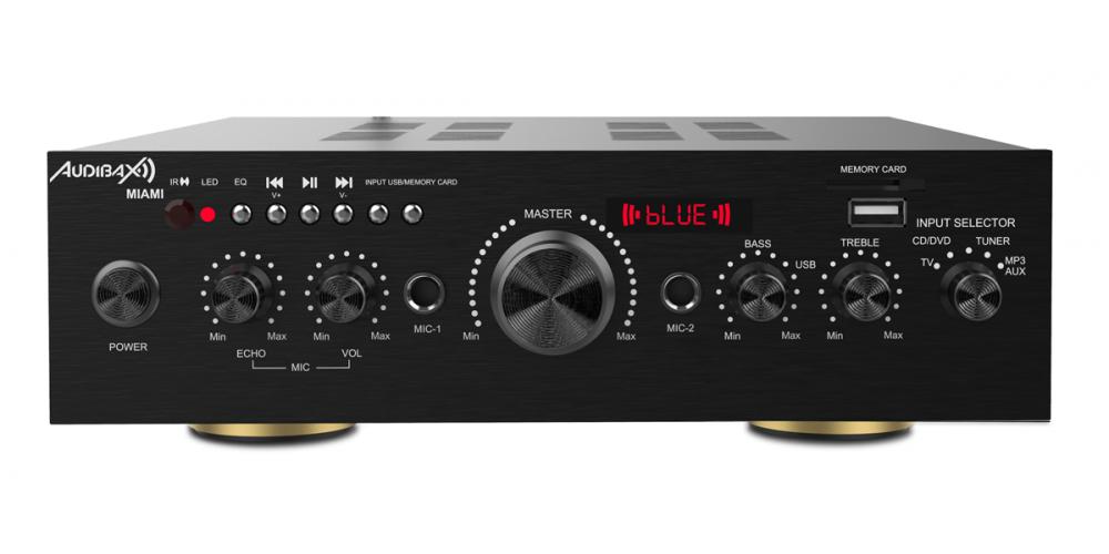 audibax miami amplificador 100w bluetooth negro comprar