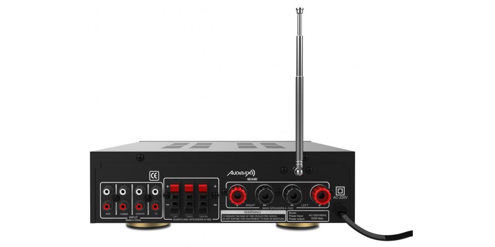 audibax miami amplificador 100w bluetooth negro trasera