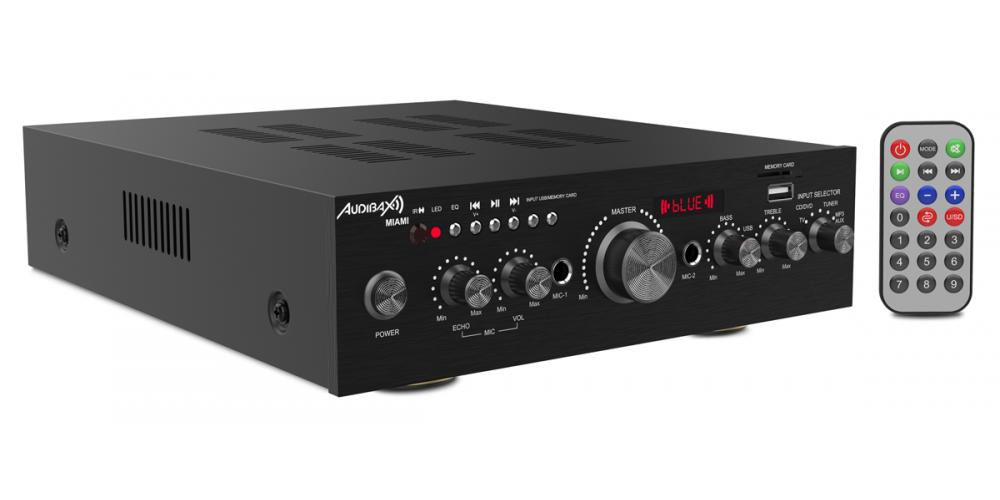 audibax miami amplificador 100w bluetooth negro
