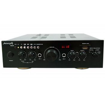 Amplificador Karaoke Bluetooth Audibax Miami 100W + 100W Músicales. Entrada 2 Micrófonos con volumen de mezcla y Echo. Radio FM .Entradas SD / USB . Mando a distancia