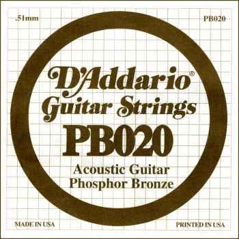 D´addario PB020 Cuerda Suelta para Guitarra Acústica