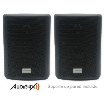 Audibax Pícolo PR-41 Pareja Altavoces Estantería HiFi y Sonorización 75 W con soporte de Pared Incluido