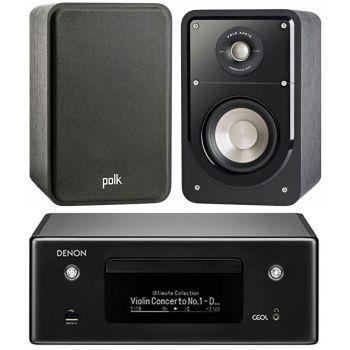 DENON RCD-N10 BK+Polk Audio Signature S15