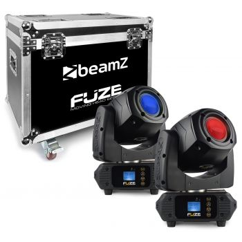BEAMZ FUZE-75S SET 2 Unidades Cabeza Movil Spot 75W LED Con FlightCase 150383 ( REACONDICIONADO )