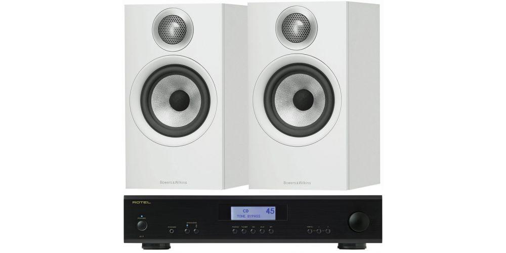 rotel A11 Black amplificador hifi estereo bw607 bk