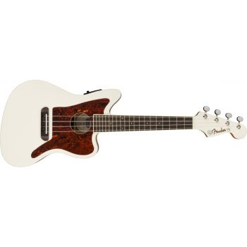Fender Fullerton Jazzmaster Ukelele Olympic White