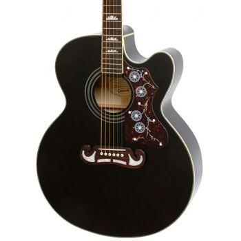Epiphone EJ-200SCE Black Guitarra Electroacústica
