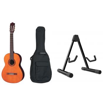 YAMAHA C-40-II Natural Guitarra Clásica + Funda + Soporte de Suelo