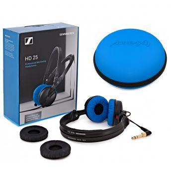Sennheiser HD 25 BLUE / BLACK Edición Limitada + Audibax Case Azul