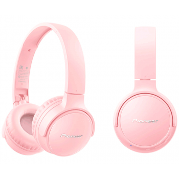 Pioneer SE-S3BT-P Auriculares Rosa HiFi Bluetooth 5.0  con Micrófono para Smartphone
