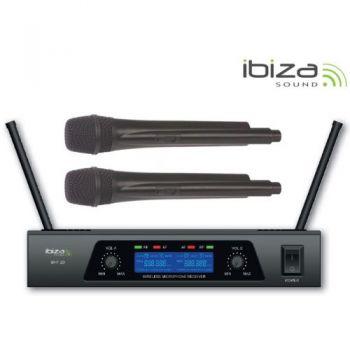 IBIZA SOUND UHF20 Microfono Inalambrico Doble UHF