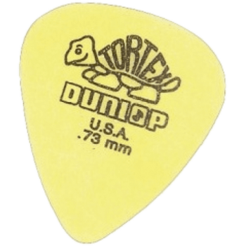 Dunlop Tortex Set Puas Amarillas 0,73 mm, 72 Unds. ADU418R73