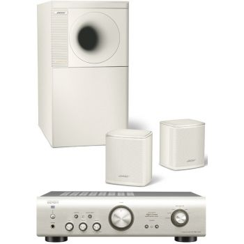 DENON PMA-520Silver+Bose AM3 White