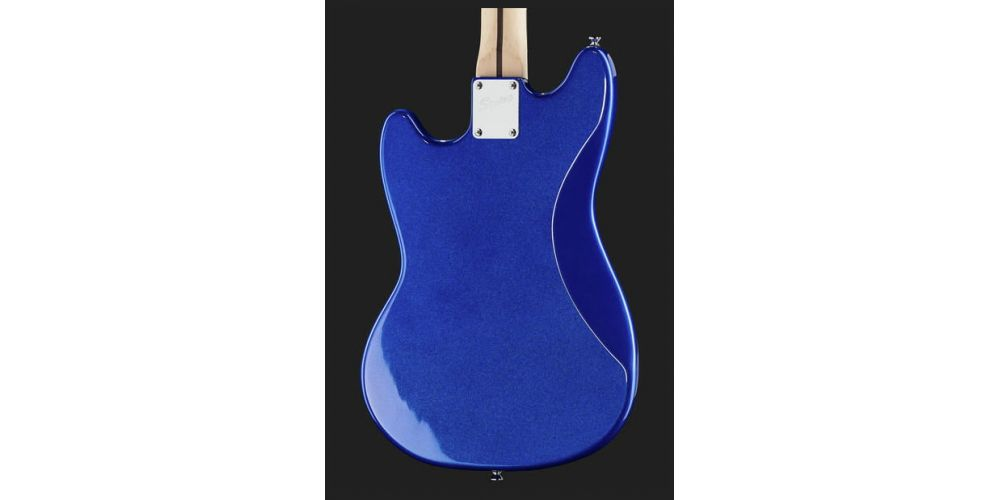 squier bullet mustang hh imperial blue back