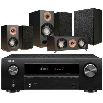 DENON AVR-X550 BK+Jamo S803HCS+S808SUB Black Conjunto Home Cinema