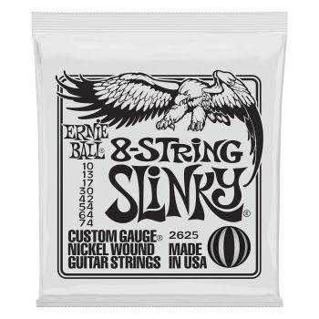 Ernie Ball 2625 Slinky Custom Gauge Set 8 Cuerdas Para Guitarra Eléctrica 10-74