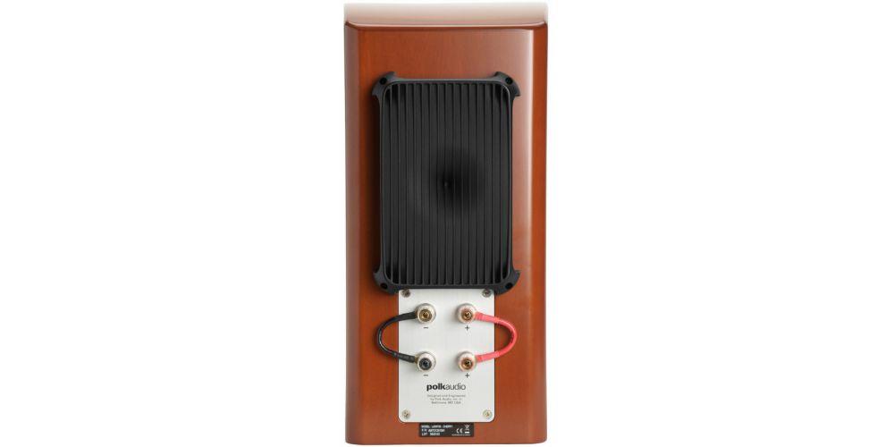 polk audio lsim703 altavoces de estanteria pareja walnut conexiones