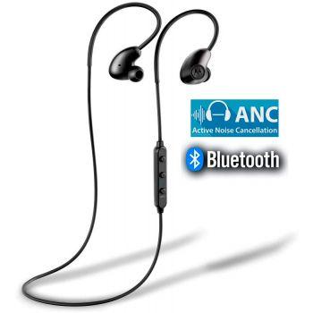 Motorola VerveLoop 500 ANC. Auriculares Bluetooth ANC Cancelador de Ruido. Compatible Siri y Alexa