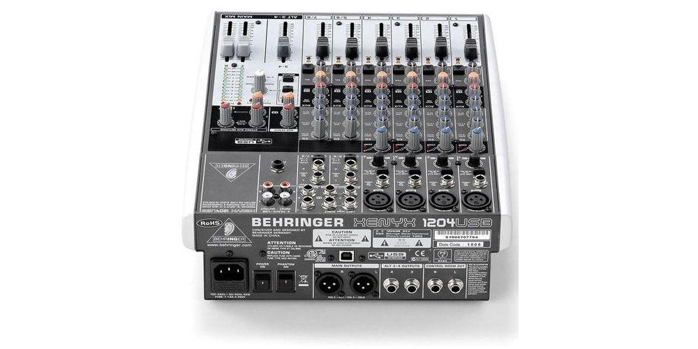 Behringer xenyx 1204 USB back