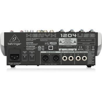 BEHRINGER 1204-USB Mezclador para Directo Behringer 1204USB Und.