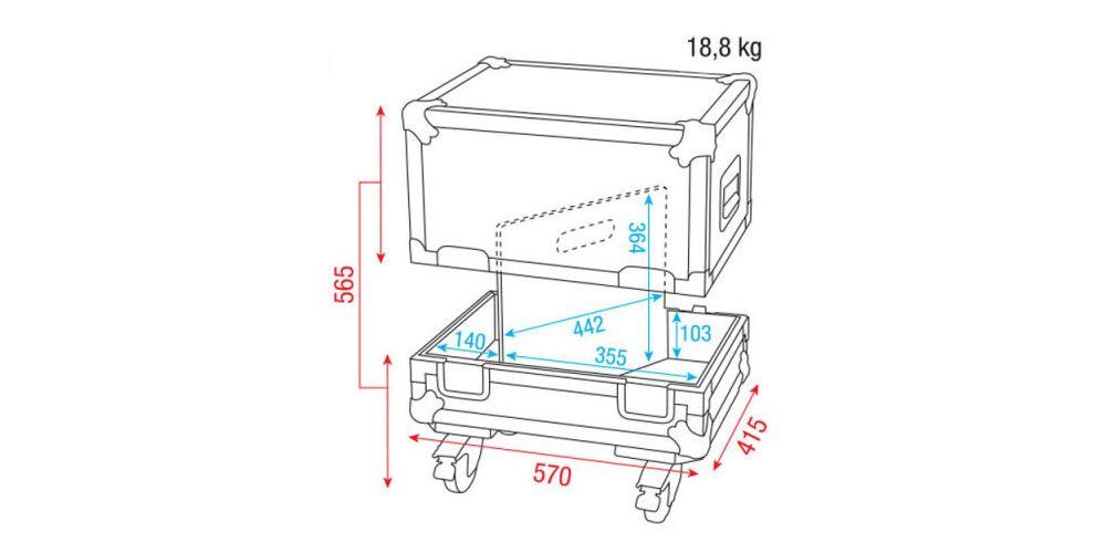 dap audio flightcase 2x monitores escenario 10 d7318 picture