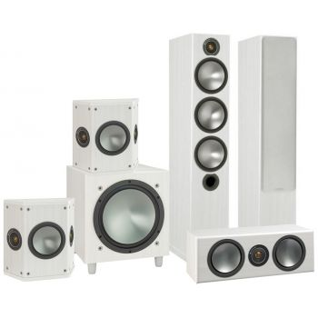MONITOR AUDIO Bronze 6-AV POWER White BRONZE6+BRONZECENTER + BRONZE FX+W10