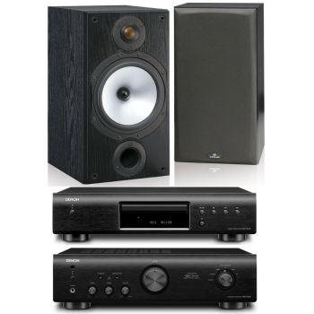 DENON PMA-520-BK+DCD520-BK+Monitor Audio MR2 BK Conjunto Audio