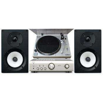 Denon PMA 520 Silver+Sherwood PM9805+Onkyo D055 Conjunto audio