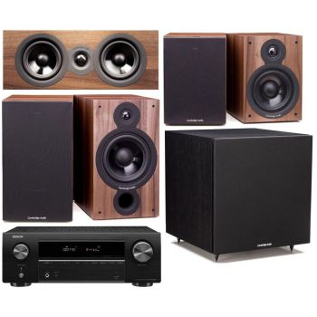 DENON AVR-X550 BK+Cambridge SX60 Walnut Cinema Pack 5.1 Conjunto Home cinema