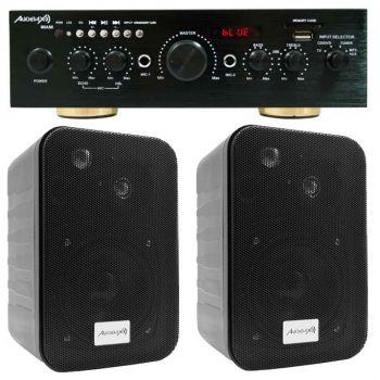 Equipo Karaoke Amplificador Bluetooth Audibax Miami 100+100W + Altavoces Audibax PR42