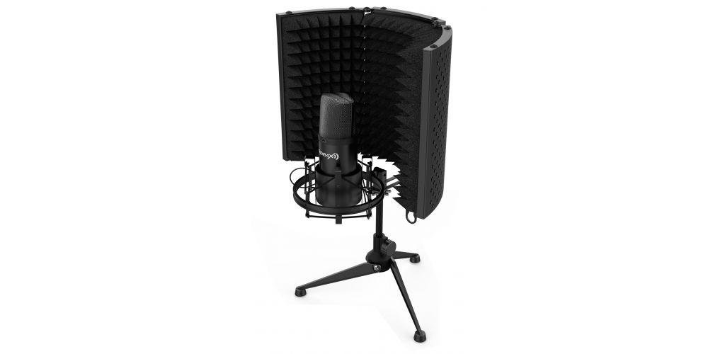 Audibax MST10 Pantalla Reflexión Microfono Negro MH