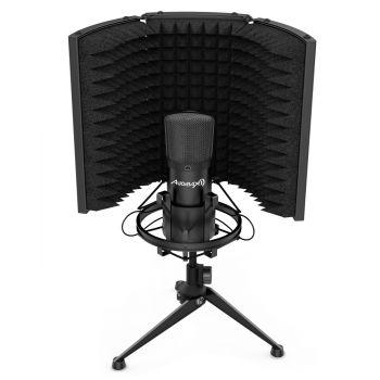Audibax MST-10 Pantalla Reflexión Micrófono Estudio Negro Plegable